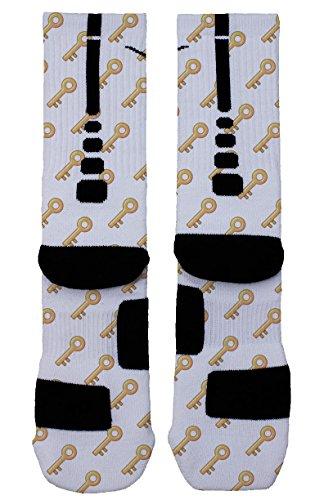 Price comparison product image The Keys - Custom Designed Nike Elite Socks (Medium (6-8), Yellow)