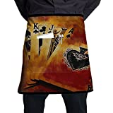 Awesome Retro Style Poker Adjustable Apron With Pocket For Kitchen Garden Cooking Grilling Chef Waitress Great Gift For Wife Ladies Men Boyfriend