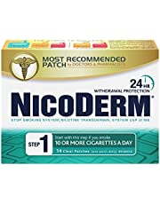 Nicoderm Step 1 Clear Patches, Quit Smoking and Smoking Cessation Aid, 21 mg of Nicotine/Day, 14 Count