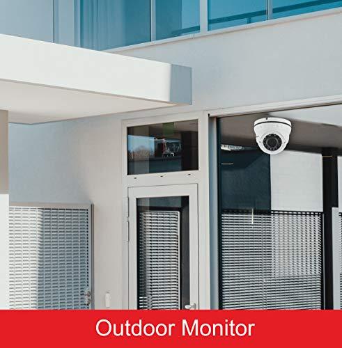 LongPlus HD-Tvi 1080P 2MP 4-in-1 CCTV Home Surveillance Ip66 Weatherproof IR Cut Dome Security Camera, White (LPHDC2MDM)
