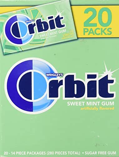 ORBIT Sweet Mint Sugarfree Gum, 14 Pieces (20 Packs)