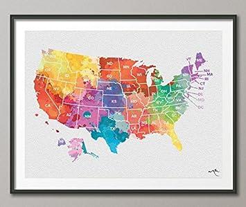 Amerika Karte Schwarz Weiß.Amazon De Push Pin Usa Karte Aquarell Vereinigten Staaten Map