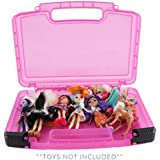Life Made Better Doll Toy Box for Enchantimals Dolls. Stores Figures and Accessories. Durable Organizer for Kids, Pink