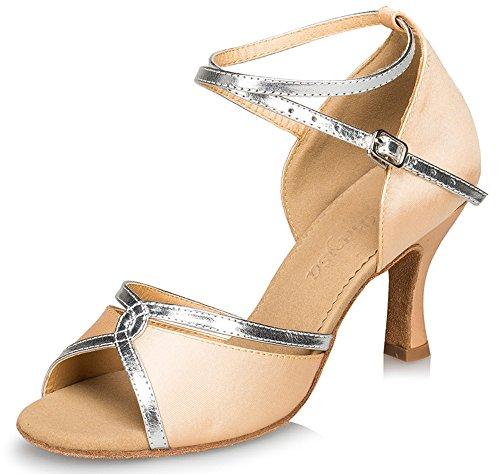 Scarpe Da Donna Color Miele, Cinturino Alla Caviglia, Fibbia Metallica, Fibbia Tacco Alto, Scarpe Eleganti