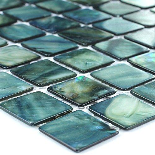 Keramik Mosaik Fliesen Türkis Matt Uni: Amazon.de: Baumarkt