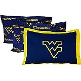 NCAA West Virginia Pillowcase Set 3pc Blue Bed Accessories