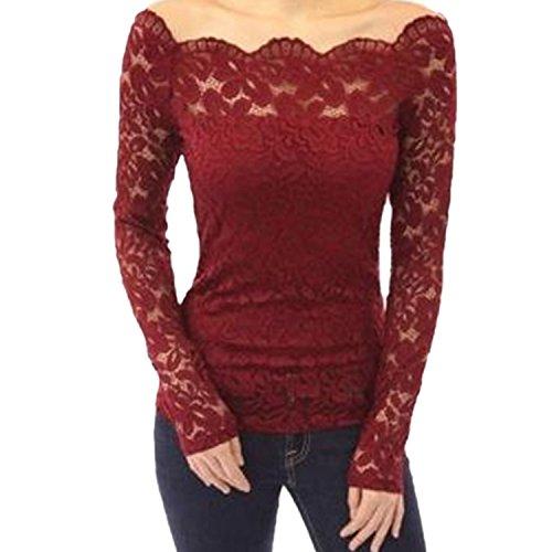Desshok - Camisas - Manga Larga - para mujer Rojo