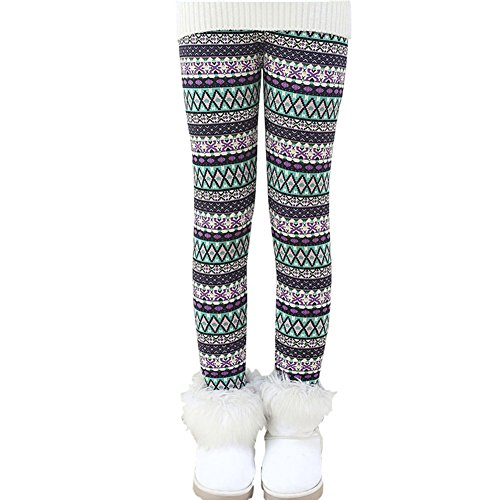 Soly Tech Kids Girls Winter Thick Pants Fleece Lined Leggings for Christmas