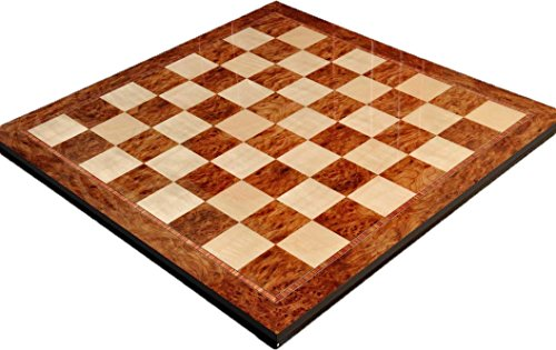 Elm Burl & Maple Superior Traditional Chess Board - 2.5