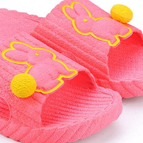 Slippers 38 SUxian 39 slip Slippers Sandals Rabbit soled Summer Non Couple Couple Slippers Red Bathroom Watermelon Soft Creative Color Purple Pattern Size rwUrHO