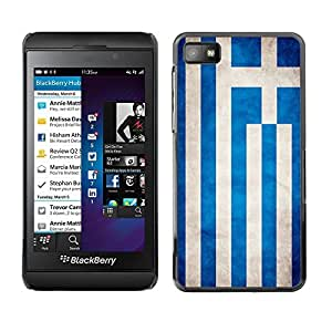 Shell-Star ( National Flag Series-Greece ) Snap On Hard Protective Case For BackBerry Z10