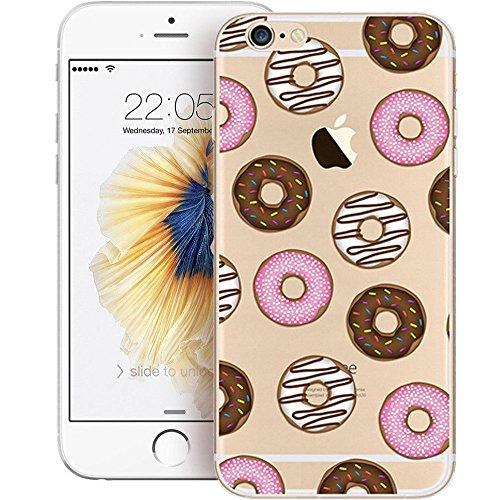 iPhone 6S Funda Silicona, BoomTeck Trasparente Protector Bumper Carcasa para 4.7 Apple iPhone 6 /iPhone 6S Delgado Sottile Goma Cristal Clear TPU Gel Cubierta Shock-Absorción Flessibile Patrón de art 03