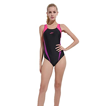 461647e747b Women Sexy Swimsuit Sleeveless Cut Out Back Swimming Sports Swimwear Diving  Suit One Piece (Red
