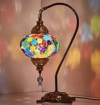 Table Lamp Swan Neck Lamp Shade Arabian Mosaic Lamps