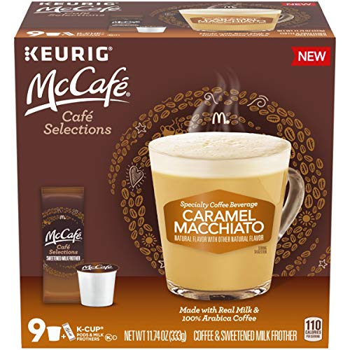 McCafe Café Selections Coffee, K-Cup Pods, Caramel Macchiato, 9 count
