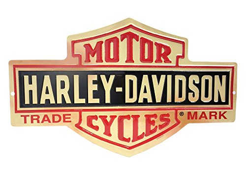 and Shield Metal Sign (Motorcycle Plaque)