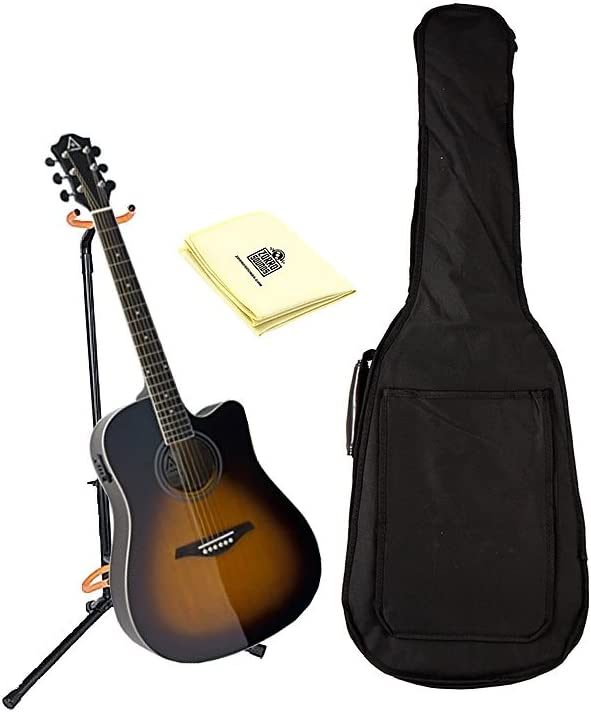 Hohner as305ce-tsb a + Dreadnought Cutaway Guitarra eléctrica en ...