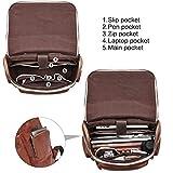 BOSTANTEN Men Leather Backpack 15.6 inch Vintage