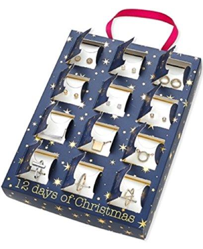 Advent Calendar Multi-Tone Jewelry 12-Pc. Gift Set