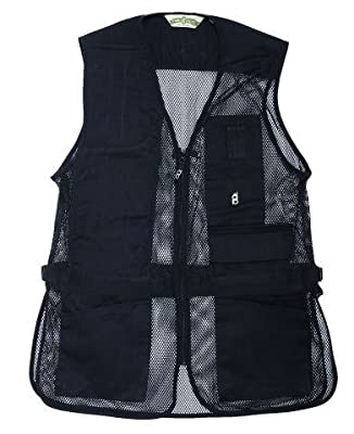 Bob-Allen 30253 240M Right Hand Shooting Vest, Black, X-Small
