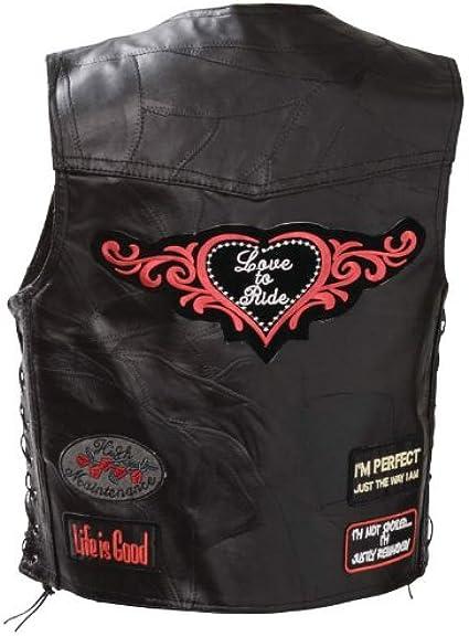 Easybiker Gilet Cuir Love to Ride