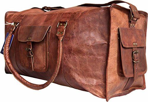 Phoenix Craft Leather 24 Inch Duffel Travel Gym overnight Weekend Leather Bag …