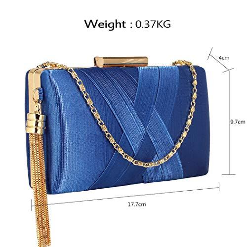 The Acc Mano De Para M Fablook Azul Mujer Cartera BOwqp7
