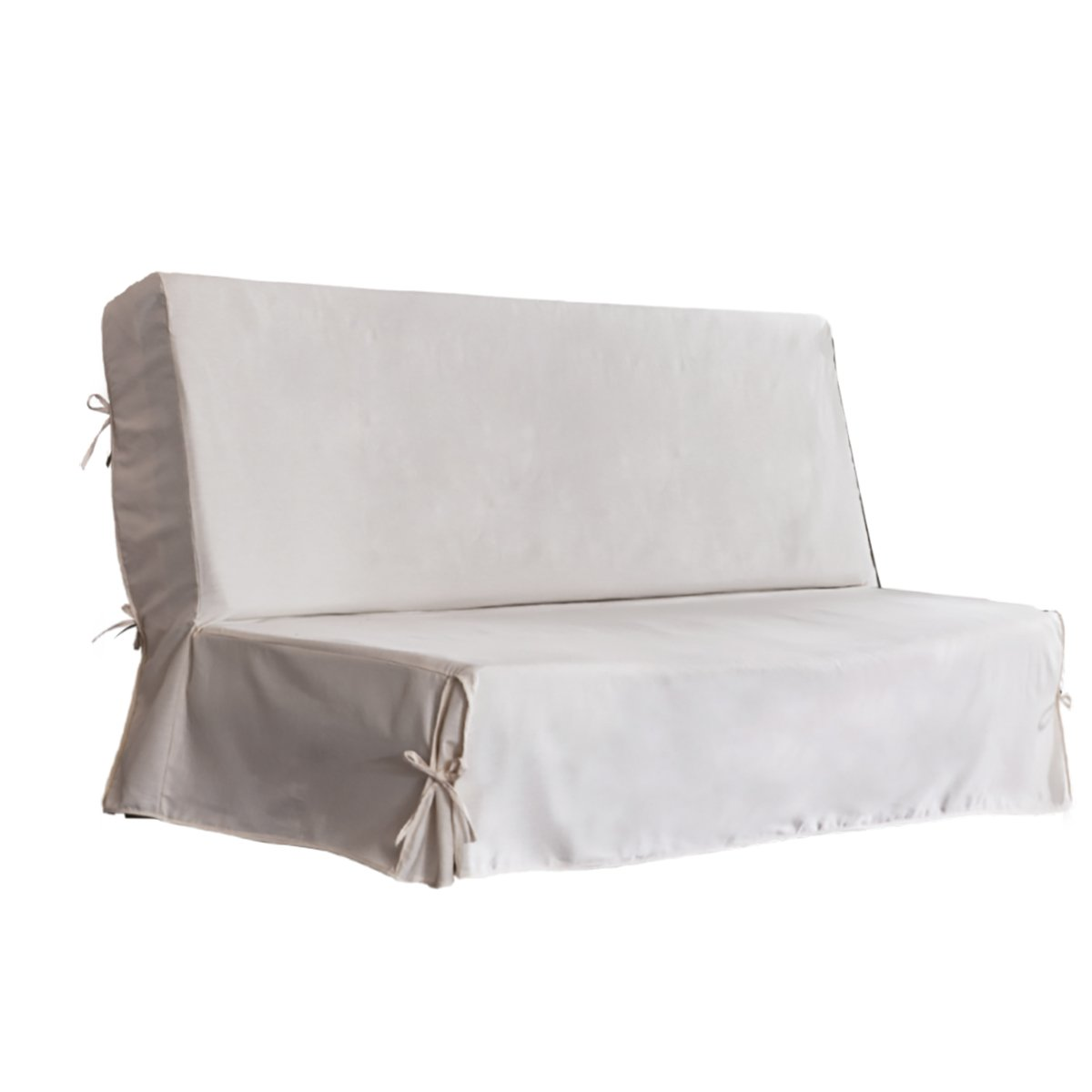 Hug amhccs802001sofa-bed cover cotton Off-White 140x 200cm Blue Bleu Câlin