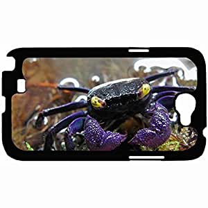 Customized Back Cover Case For Samsung Galaxy Note 2 Hardshell Case, Black Back Cover Design Crab Personalized Unique Case For Samsung Note 2