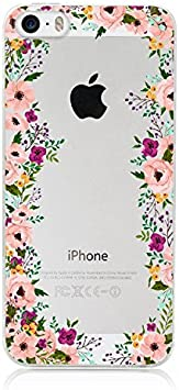 Coque Transparente iphone 5 5s Se Fleur 14 Liberty Rose Fushia ...