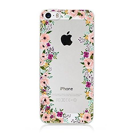 coque iphone 5 rose fleur