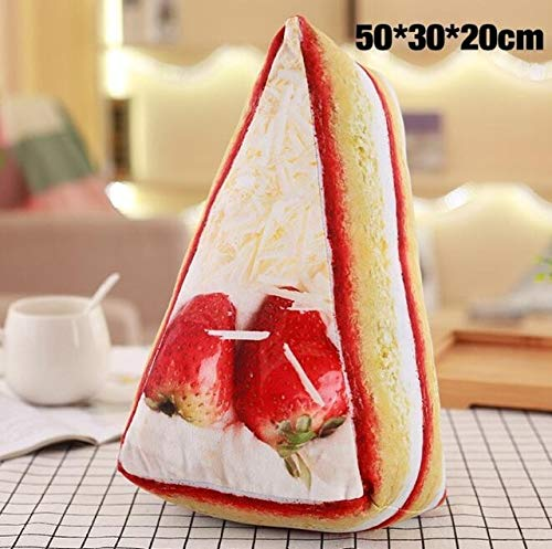 WATOP Stuffed Animals - Teddy Bears | 3D Simulation Food Shape Plush Pillow Creative Cake Coffee Beer Plush Toys Stuffed Sofa Cushion Home Decor Funny Gifts for Kids (Strawberry Cake ()