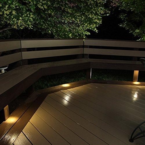 Outdoor LED Recessed Down Light Kit - 8 LED Lights - Hammered White by DEKOR (Image #3)