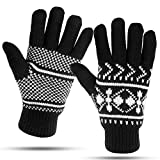 Winter Gloves For Women: Womens Cold Weather Warm Snow Glove: Women's Knit Thinsulate Thermal Insulation Black