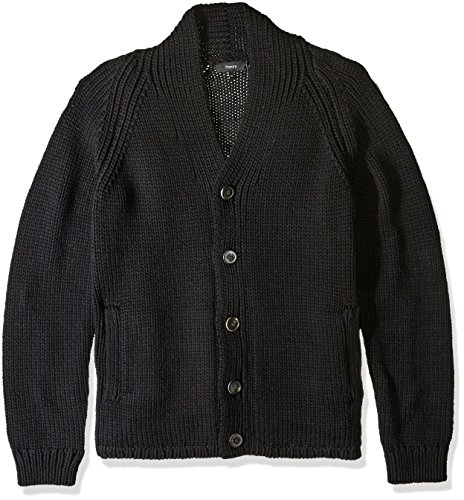 Theory Men's Roden C Park Merino Cardigan Sweater, Black-001, XX-Large