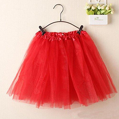 Jupe Jupe lgant Couleur Ballet Organza Rouge Tutu Mini Pure en Femme LuckyGirls Couches Dentelle wtv1w