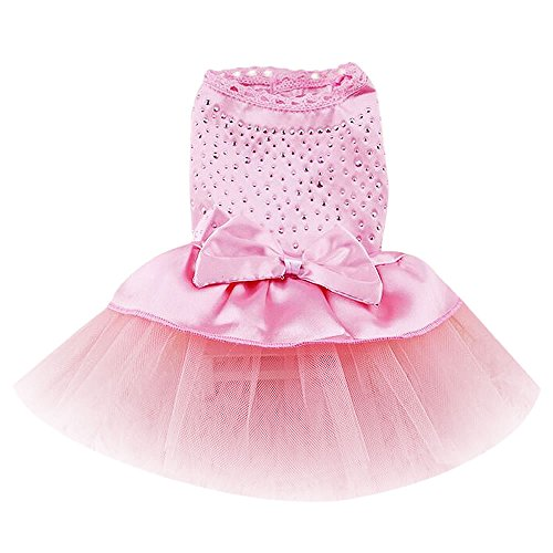 [Dealzip Inc Lovely Pink Cute Dog Cat Pet Tutu Bow Skirt Apparel Festival Costume(Size-Large)] (Cheap Pet Cat Costumes)