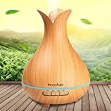Innoo Tech Wood Grain Cool Mist Humidifier 300ml Essential Oil, Ultrasonic Petal Design Aroma Diffuser for Office Home Living Room Bedroom Yoga SPA Review
