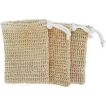 Exfoliating Natural Sisal Soap Saver Bag Pouch (Sisal Soap Saver), 3 Pack