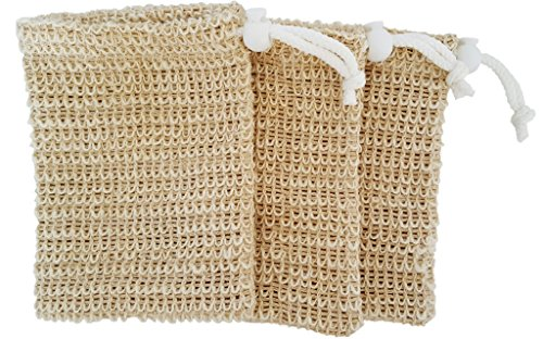 (Exfoliating Natural Sisal Soap Saver Bag Pouch (Sisal Soap Saver), 3 Pack)