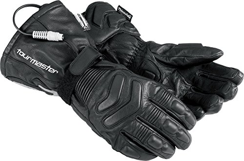 (Tourmaster Synergy 2.0 Black Electrically Heated Leather Gloves - Large)