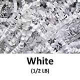 Arts & Crafts : Crinkle Cut Paper Shred Filler (1/2 LB) for Gift Wrapping & Basket Filling - White | MagicWater Supply