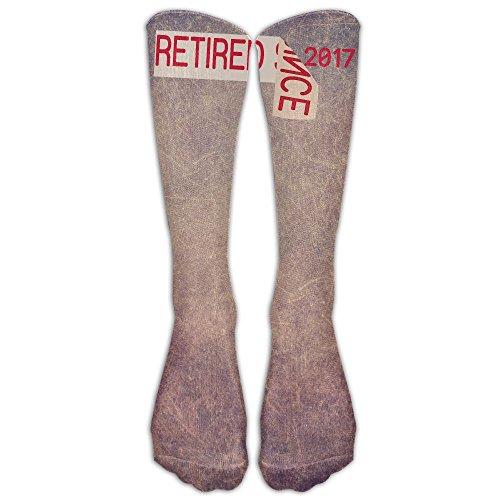 Retired Since 2017 Retirement Gift Fashion Leg Warmer Women's Tube Cotton Socks Designer Novelty Socks