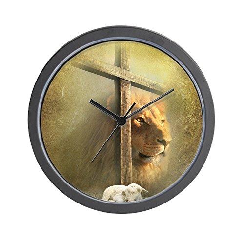 God Wall Clock - CafePress - Lion Of Judah, Lamb Of God - Unique Decorative 10