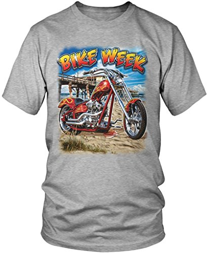 Bike Week, Motorcycle, Chopper Men's T-shirt, Amdesco, Athletic Heather Gray (Bike Week Chopper Motorcycle T-shirt)