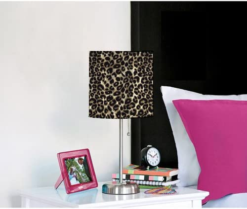 Cheetah Desk or Table Metal Lamp