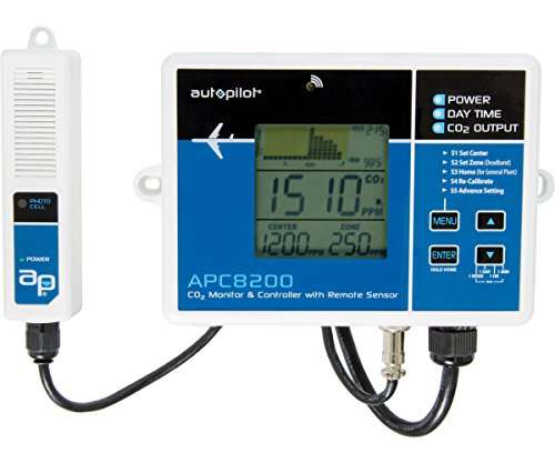 Controller Ppm Co2 (Autopilot APC8200 CO2 Monitor & Controller with 15 Foot Remote Sensor, Blue)
