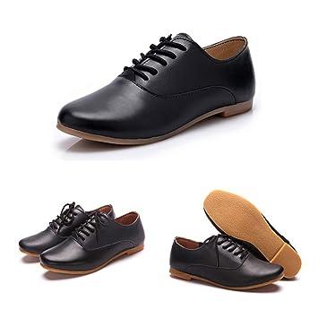 LIANGHUA Zapatos De Mujer Spring Mujeres Oxford Zapatos Bailarina Zapatos Planos Mujeres Cuero Genuino Zapatos Mocasines Lace Up Mocasines Zapatos Blancos,: ...