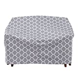 MS HOME Trellis Patterned Patio Stackable Quilted Glider Cover w/Metal Grommets - Durable, Indoor, Outdoor - 78'' L x 37'' W x 33'' H
