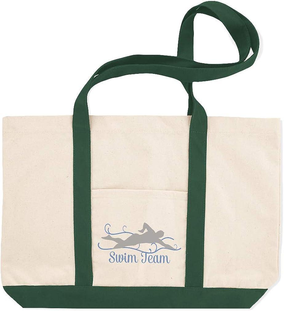Canvas Shopping Tote Bag Swim Team Sports Swimming Swim Beach Bags for Women Swim Swimming Gifts